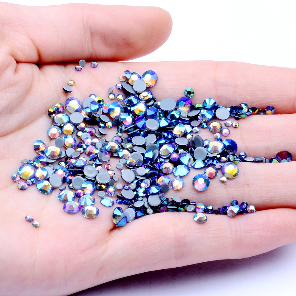 Ss6, ss10,ss16,ss20,ss30 Фиолетовые кристаллы AB стеклянные стразы горячей фиксации s,DMC плоские стразы для одежды