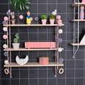 Étagère de rangement murale en bois étagère suspendue 3 niveaux présentoir mural décor à la maison bricolage support de décoration murale