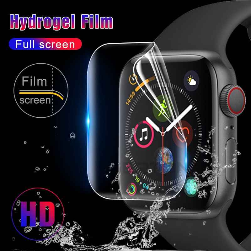 2pcs 9D Full Cover Hydrogel Film For Apple Watch 38 mm 42 mm Screen Protector I Watch 4 Series 40 44 mm 1/2/3/4 Guard Glass Film