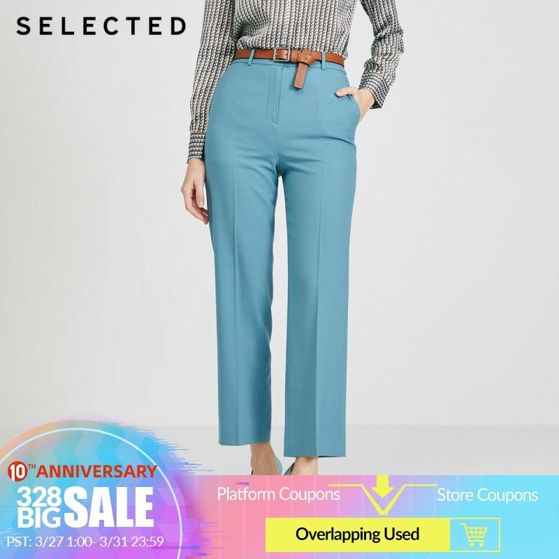 SELECTED Women's Straight Fit Woolen Suit Pants S|420114505