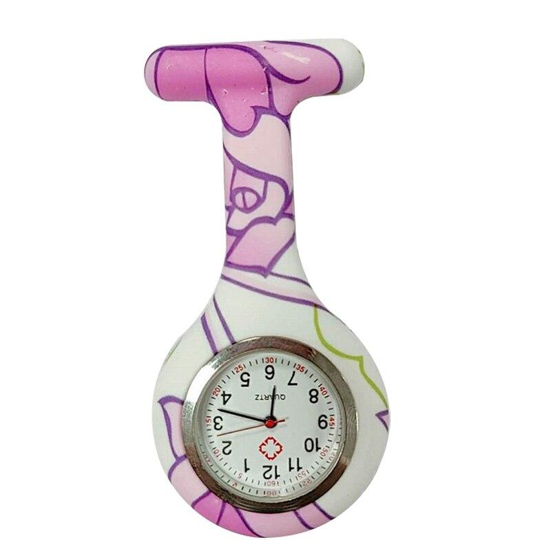 Часы для медсестер печатных Стиль клип на Fob Подвеска для броши карман висит врач-Медсестра Медицинские автоматические механические часы HSJ88 - Цвет: 1