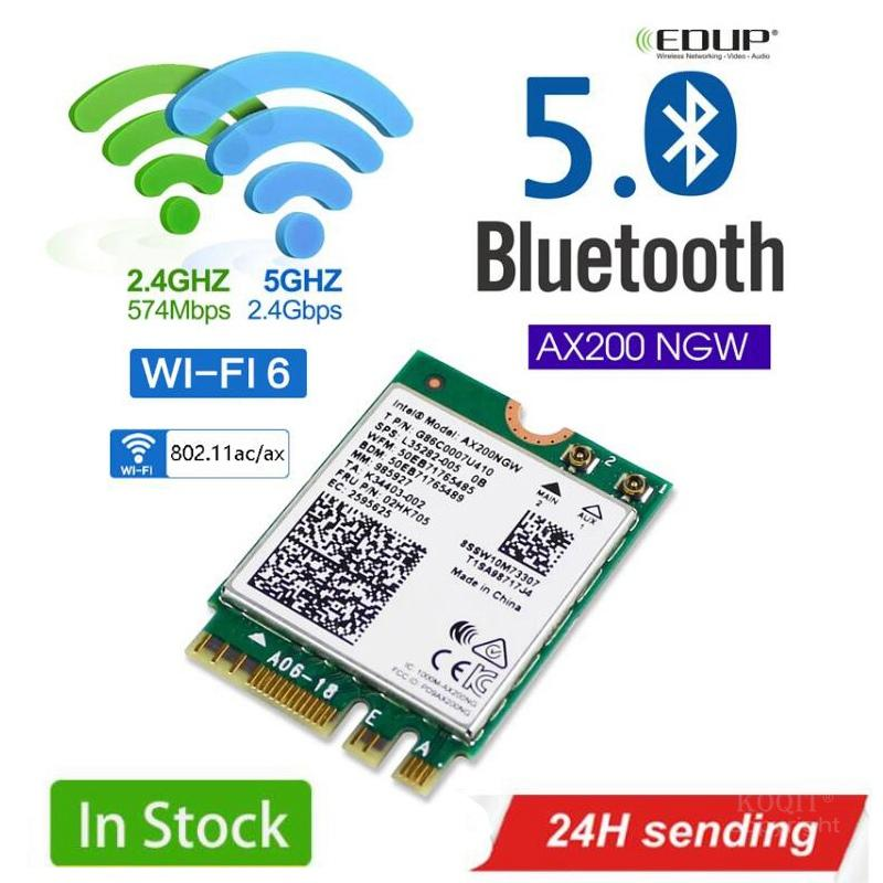 2400Mbps Dual Band 5G 802.11ax Intel Wifi 6 AX200NGW M.2 Wireless Wi-Fi Network Card Adapter For Intel AX200 With BT 5.0 MU-MIMO