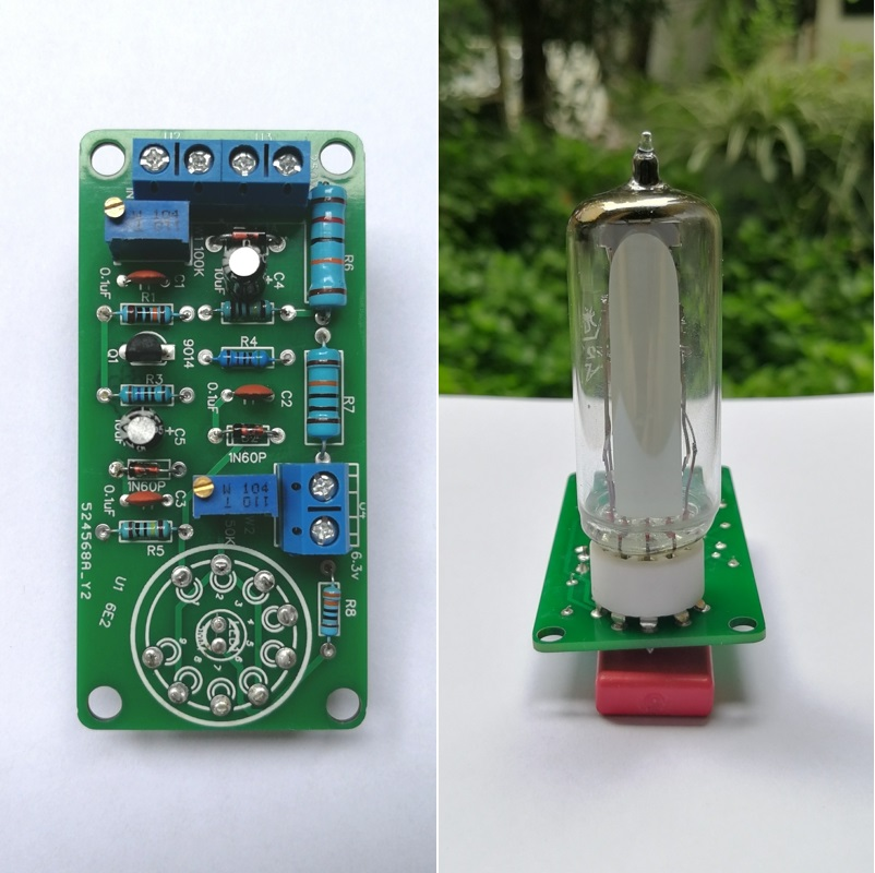 6E2 Tube Cat Eye Driver Board Audio Level Fluorescent Indicator Radio Tube Amplifier Volume Indication Bile Preamp Vacuum(China)