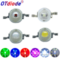 10 шт. 1 Вт 3W светодиодный светильник высокой мощности Светодиодный s чип SMD теплый белый красный зеленый синий желтый для Точечный светильник...