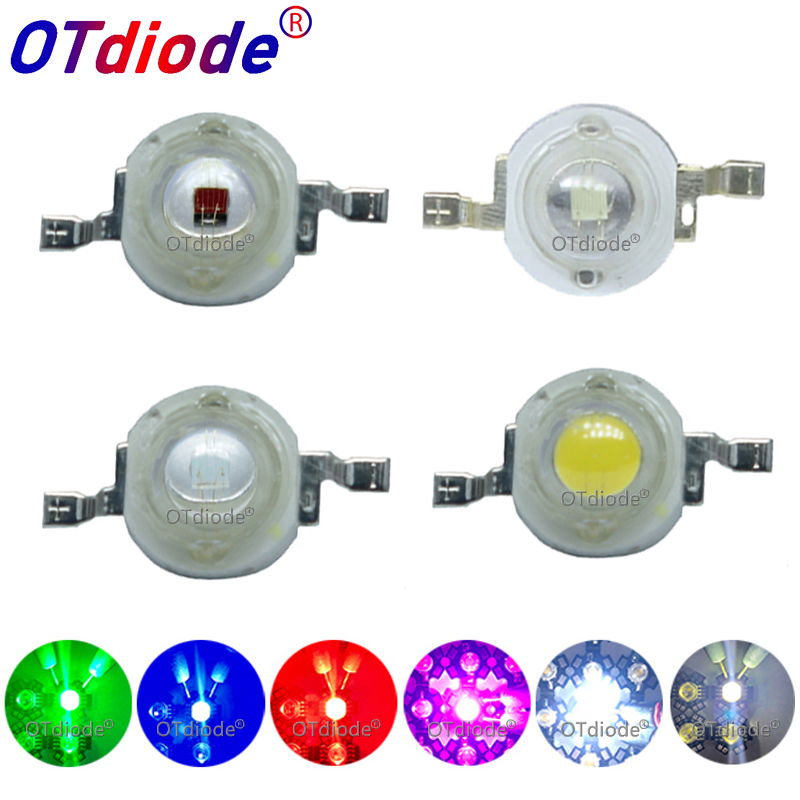 10pcs 1W 3W High Power LED Light Emitting Diode LEDs Chip SMD Warm White Red Green Blue Yellow For SpotLight Downlight Lamp Bulb|Light Beads| |  - title=