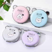 Vicney Original Cartoon Makeup Mirror Portable Pocket Double Sided Mirror Mini Pocket Makeup Mirror Cosmetic Compact Mirrors engrave letters free bling crystal mini beauty pocket mirror makeup compact mirror pearl sunflower stainless steel wedding gifts