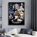 Japanese Anime Death Note Classic Anime Canvas Painting Posters and Prints Wall Art Pictures for Living Room Home Decor Unframed