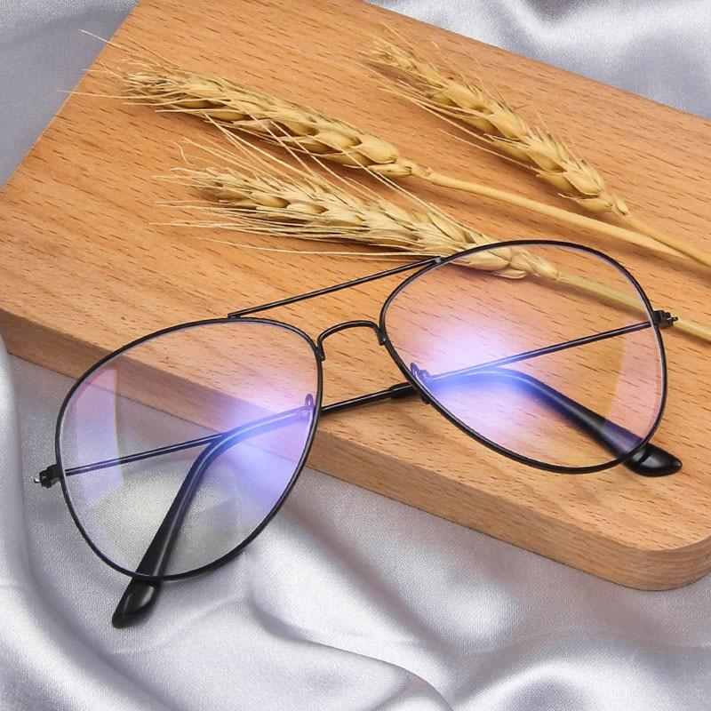 Polygon Metal Anti Blue Light Blocking Glasses Frame Men&Women Computer Games Goggles Eyeglasses Optical Spectacle Frame