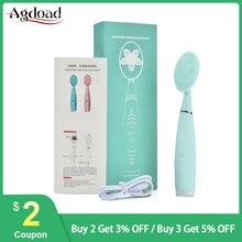 Brosse électrique Portable étanche de nettoyage du visage, outil de nettoyage en profondeur, Massage portatif, soins de la peau