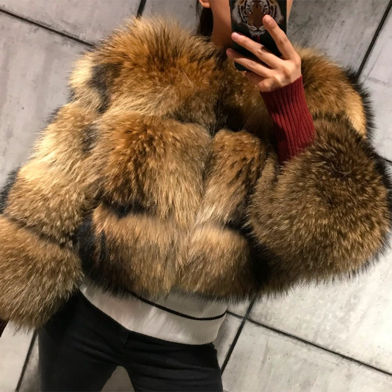 Coat Clothing Raccoon-Fur Winter New-Style Women's High-Quality Maomaokong Round-Neck title=