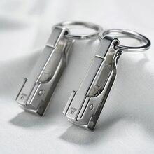 304 Paslanmaz Çelik Araba Anahtar zincir kemer Bel Asılı Basit Yüksek Kaliteli Erkekler Anahtarlık Toka Anahtarlık Tutucu Babalar Günü Hediyesi