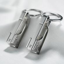 Porte clés de voiture, en acier inoxydable 304, suspendu à la taille, Simple, haute qualité, clé à boucle, porte anneau, cadeau de fête des pères