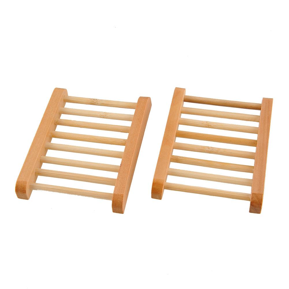 Holz Bambus Seifenschale Holz Seifenablage Handgemachte 2 Pcs Seife Saver Seifenschale Bambus Seifenschale Seifendose Reise