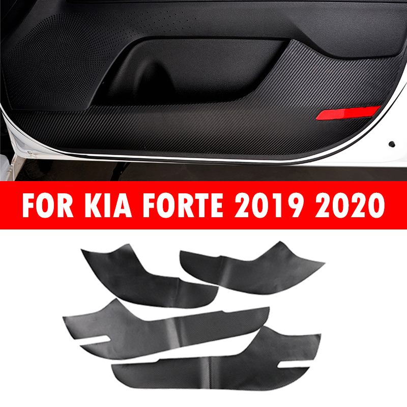 Inner Shift Knob Steering Wheel Shift Paddle Shifter Door Handle Anti Kick Pad Panel Trim Stickers For Kia K3 Forte 2019 2020