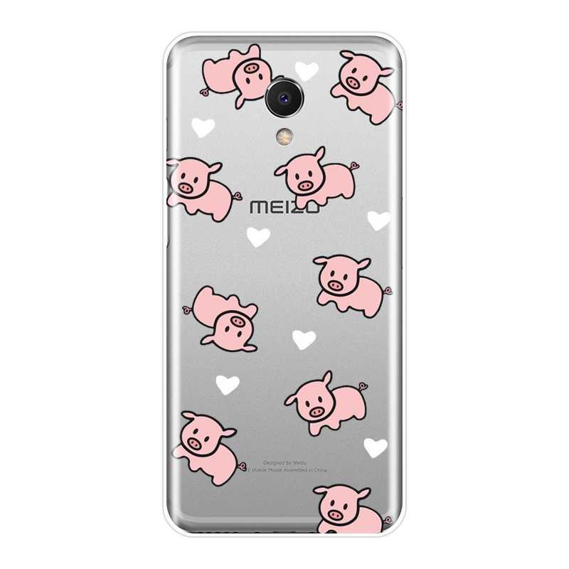 Für Meizu M6 M5 M3 M2 Hinweis Fall Silikon Weichen Rosa Schwein Hund Panda Zurück Abdeckung Für Meizu M6 M6S m6T M5 M5C M5S M3 M3S M2 Telefon Fall