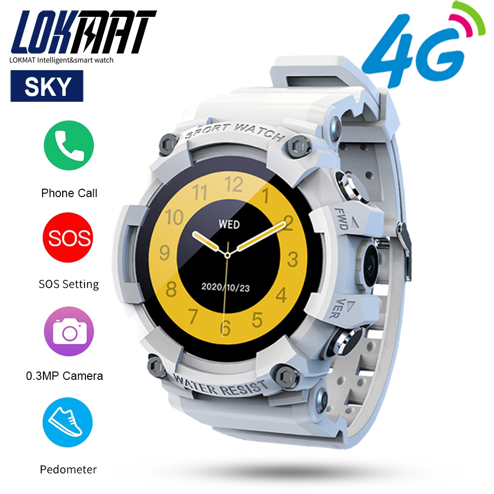 Permalink to LOKMAT SKY Smart Watch One-Key Emergency Call Watches Sport Fitness Tracker Bluetooth Full Touch Screen Camera SOS 4G Chat Watch