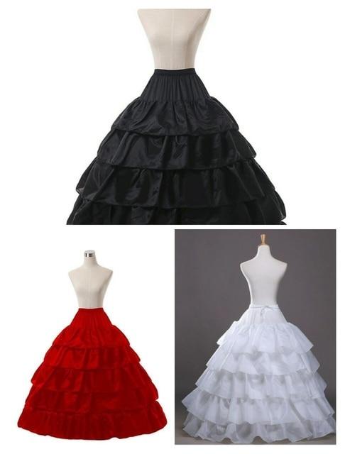 Trắng 4 Vòng Cưới Bầu Crinoline Cô Dâu Petticoat Váy Tây Nam Không