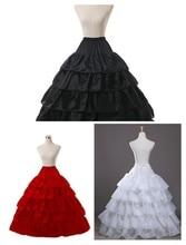 White 4 HOOp Wedding Ball Gown Crinoline Bridal Petticoat Skirt Underskirt
