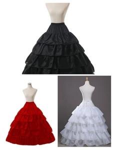 Image 1 - Wit 4 Hoop Wedding Baljurk Crinoline Bridal Petticoat Rok Onderrok
