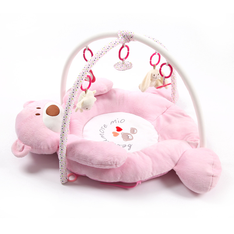 Baby Educational Toy Music Bear Game Blanket Baby Cloth Fitness Crawling Mat  0-2 Years Old