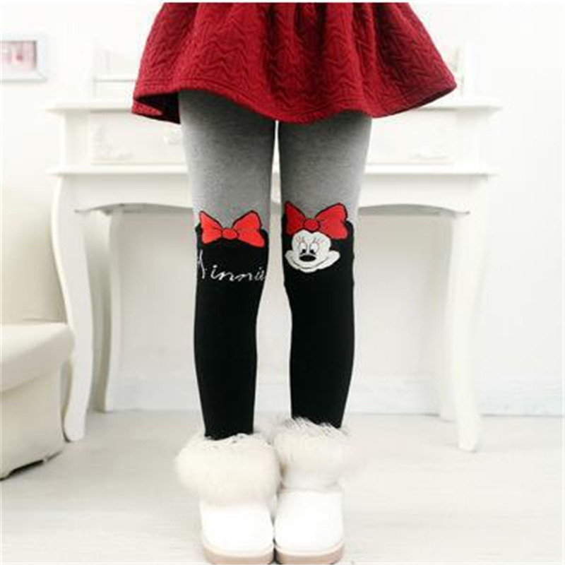 Disney Cartoon Kids Children Pantyhose Girls Warm Tights Toddler Winter Tights Warm Girl Stockings Spring Tights For Girls LL02