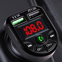 Modulator-Player Audio-Receiver Car-Kit Fm-Transmitter Fast-Charger Handsfree Jinserta Bluetooth