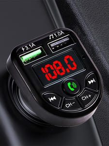 Modulator-Player Audio-Receiver Car-Kit MP3 Fm-Transmitter Fast-Charger Jinserta Bluetooth