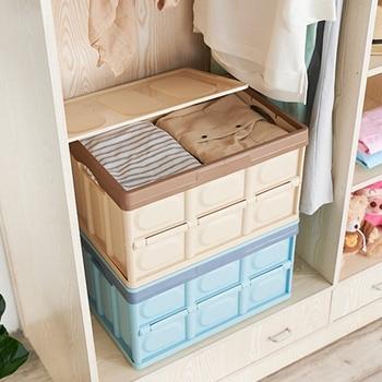 Caja plegable de almacenamiento para el hogar, coche, viajes, organizadores de ahorro...