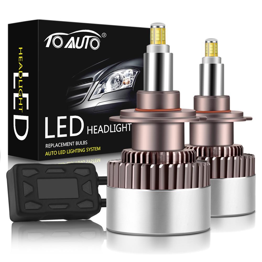 2pcs Upgrade 80W R9 3D LED H1 H7 H8 H11 9005 HB3 9006 HB4 9012 HIR2 Car LED Headlight Bulbs with CSP Chips Auto Lamp 12V
