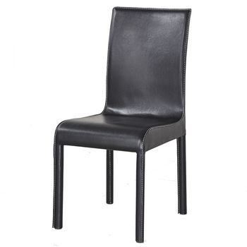 Special Offer Sleek Minimalist Modern Leather Dining Chair Hotel Restaurant Dinette Office Home Black White Stool Back Chair