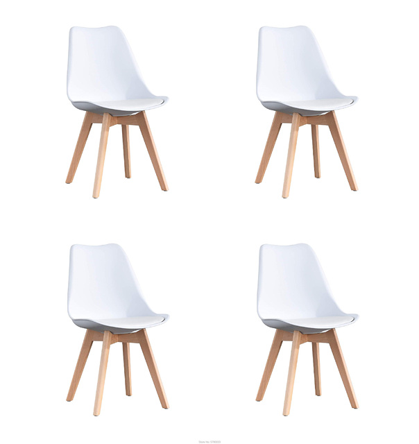 A set of 4 Retro Style Dining Chairs 1