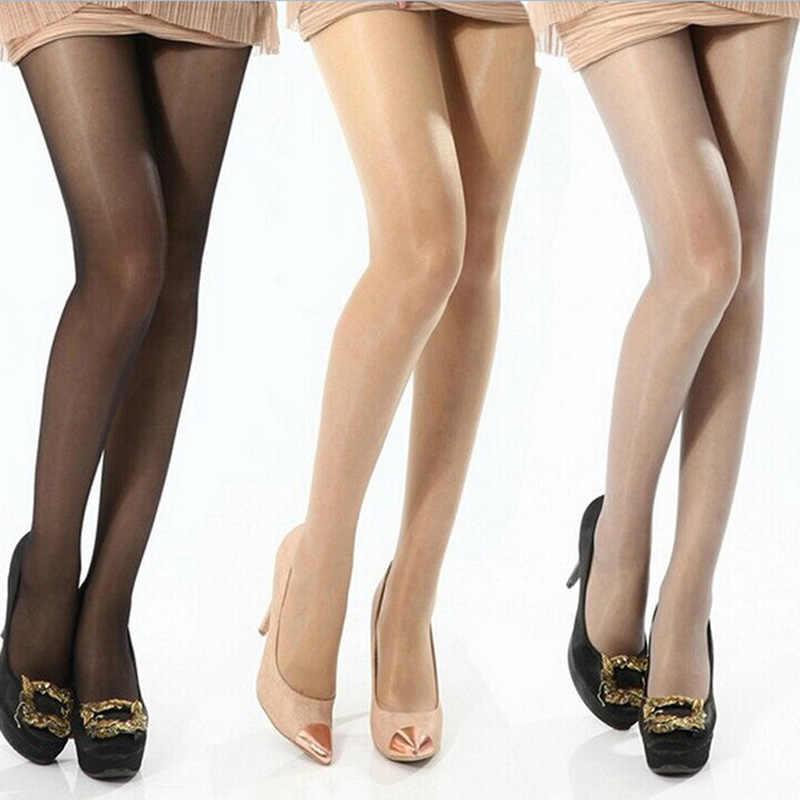 บาง SHEER ถุงน่องแฟชั่นผู้หญิงสุภาพสตรีเซ็กซี่เต็มรูปแบบ Pantyhose เท้าร้อน 2 สี