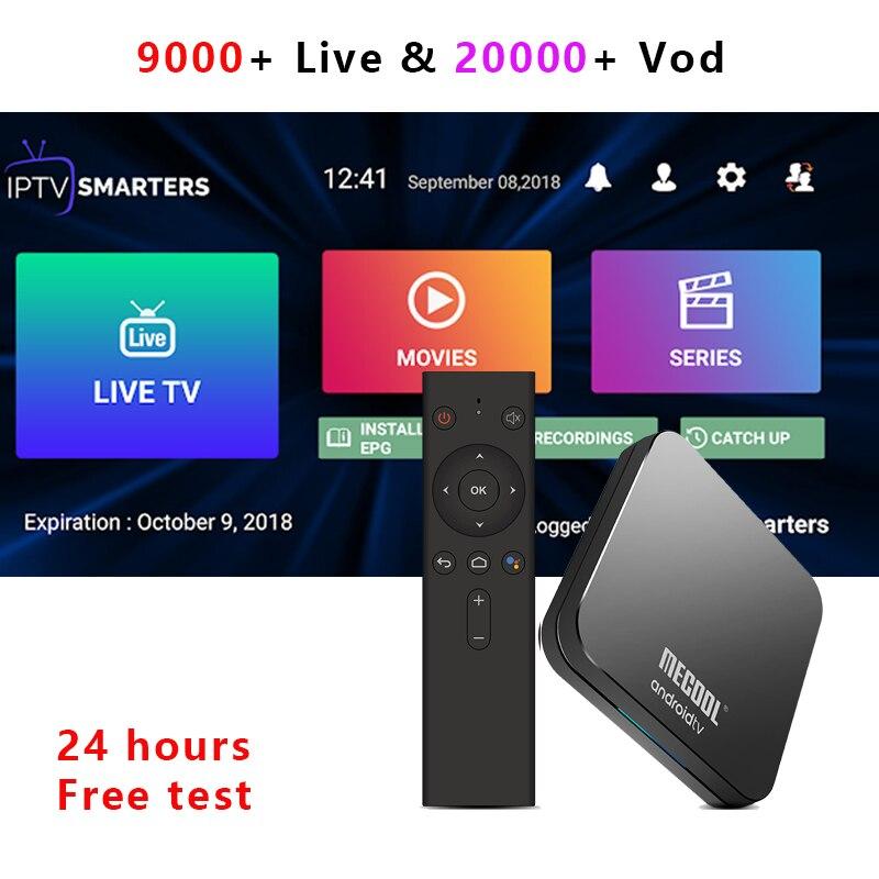 KM9 pro Android 9.0 TV box avec USA UK Europe arabe Canada IPTV abonnement pologne grèce albanie suisse thaïlande VietnamDécodeurs TV   -