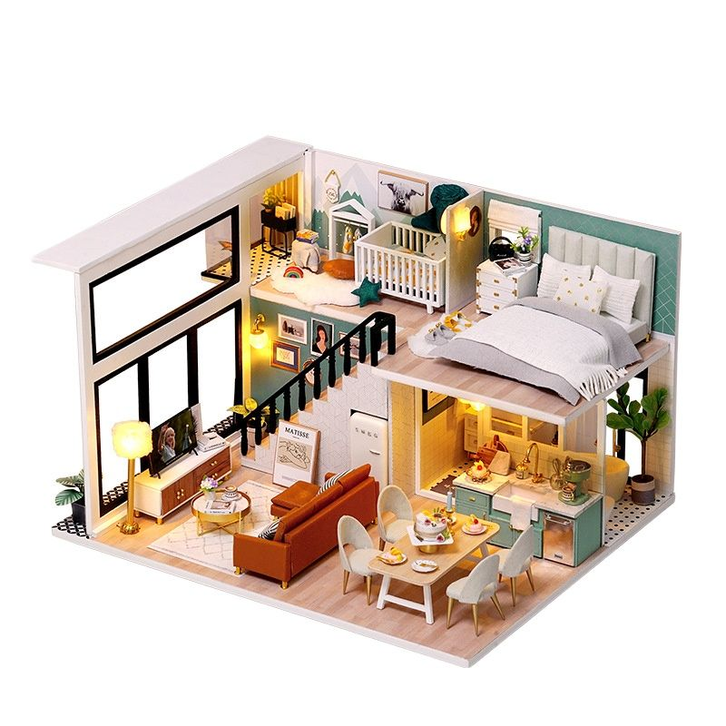 DIY interesting Small House Toy Comfortable Life Hand-assembled Model Toy Small House Creative Girl Christmas Birthday Gift