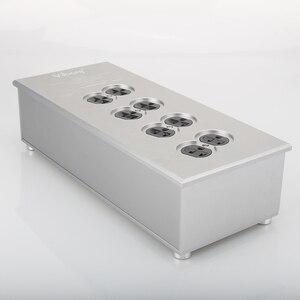 Image 5 - Viborg VM80 HiFi силовой фильтр, розетка США, 8 полосный Кондиционер переменного тока, аудиофиловый очиститель питания США, распределитель питания переменного тока