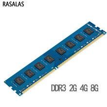 Rasalas Geheugen Ram DDR3 DDR3L 4G 8G 2G Desktop 1.35V 1.5V 8500S 10600S 12800S 1066 1600 1333Mhz 240PIN Dimm Memoria Ram Voor Pc