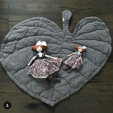 110 см мягкий детский коврик для ползания складной коврик в форме листа для малышей мягкий хлопковый коврик для ползания украшение комнаты