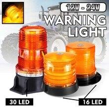 LED magnético-luz estroboscópica de advertencia para coche y camión, baliza luminosa, señal Circular, alarma de seguridad, Trialer, vehículo, barco, 12V - 24V