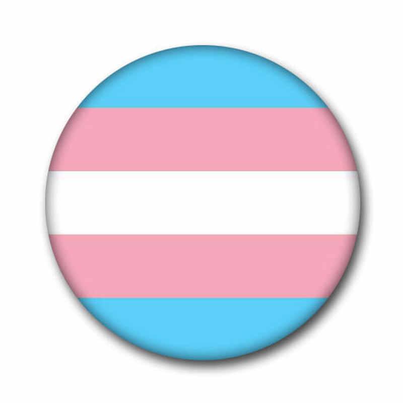 T1 LGBT Pride Regenboog Vlag Blik Badge Ondersteuning Gay Lesbische Biseksueel Transgender Symbool Pin Lgbt Pictogrammen Rozet Broche
