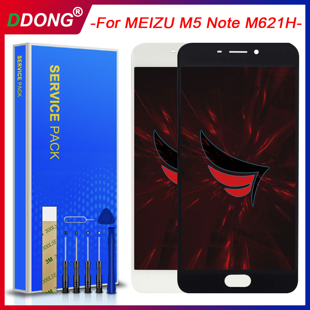 AAA Quality For MEIZU M5 Note M621H M621M M621Q LCD+Frame Lcd Display 5.2 Inch Screen+Digitizer Touch Screen Replacement