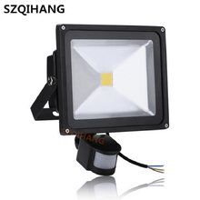 1PCS LED Floodlight PIR Motion Sensor Detector 10w 20w 30w 50w Outdoor Security Flood Light Waterproof Flood Light IP65.