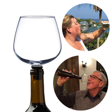 Creative Red Wine Glass Crystal Drinking Swig Cup Bottle Stopper Turns Your Of Into Drinkware