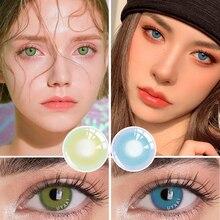 2 шт. (1 пара) цветные контактные линзы серии «фальшивые» контакты для глаз зеленые цветные линзы для глаз синие линзы макияж натуральные лин...