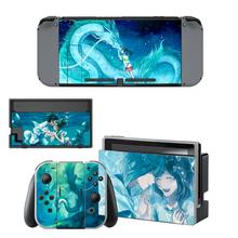 Anime Spirited Away Nintendo Switch Skin Sticker NintendoSwitch stickers skins for Nintend Switch Console and Joy Con Controller