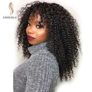 Kinky Curly Short Bob Wigs Human Hair with Bangs perruque longue cheveux humain Cheap Afro Kinky Curly Human Hair Wig