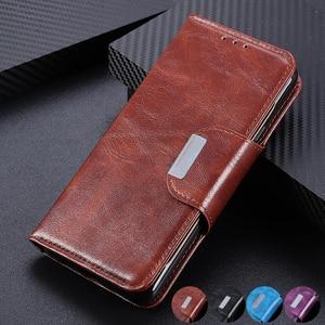 Image 1 - 6 fentes pour cartes portefeuille Flip étui en cuir pour Xiaomi A3 Lite 9 SE 9T Pro Redmi Note 8 Pro 7 7A K20 Pro fermeture magnétique cartes poche