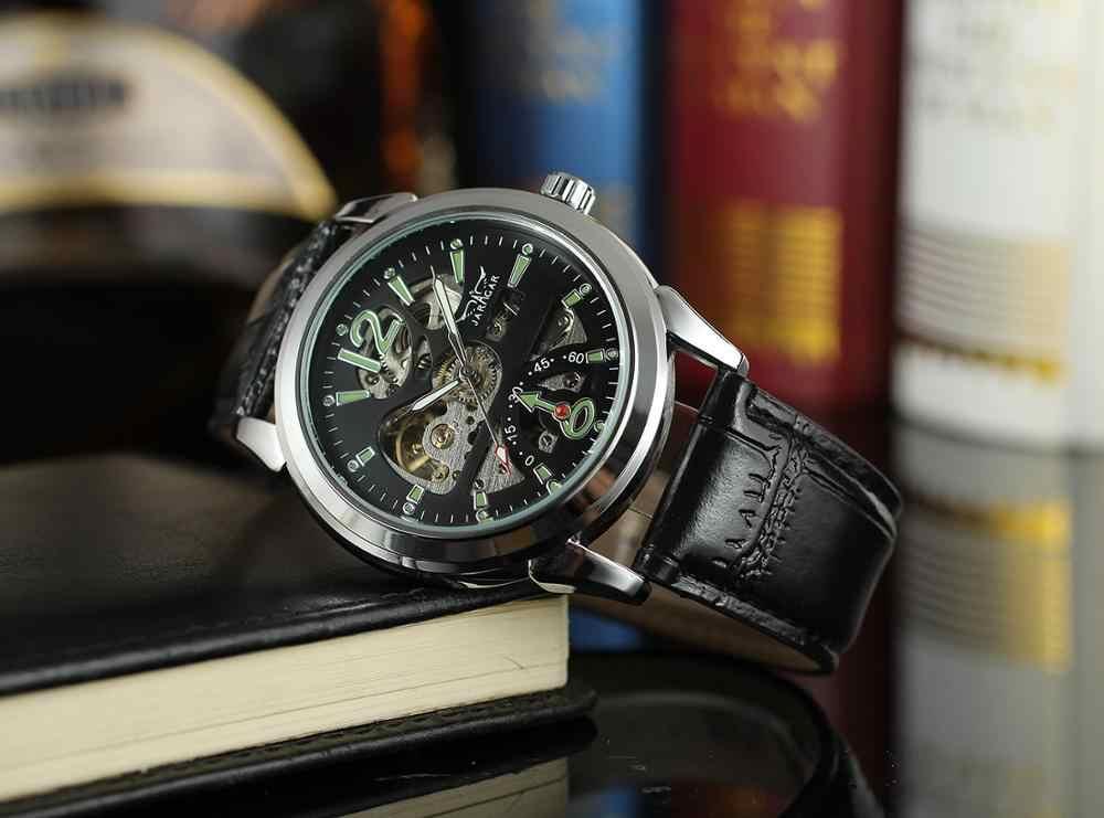 Jaragar 2019 新シリーズアーミーグリーンデザイナースポーツ軍事腕時計メンズ腕時計トップブランドの高級スケルトン自動カジュアル腕時計