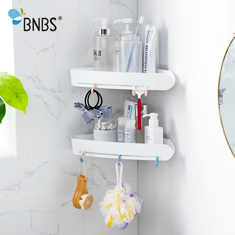 BNBS Corner Shelf For Bathroom Organizer Wall Shelves In The Bathrooms Accessories Shower Caddy Rack For Toiletries Cosmetics