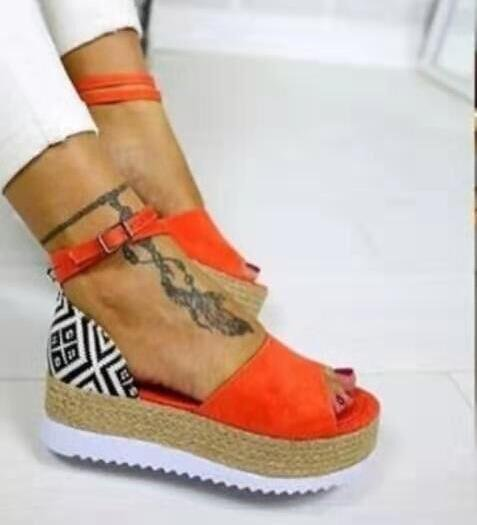 Summer Platform Sandals Fashion Women Sandal Wedges Shoes Casual Woman Peep Toe Platform Sandals Causal Shoes Sandalias Mujer