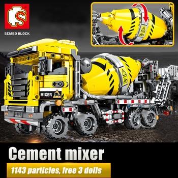 SEMBO Building Blocks City Engineering Bulldozer Crane Technic Car Truck Excavator Roller Bricks Construction
